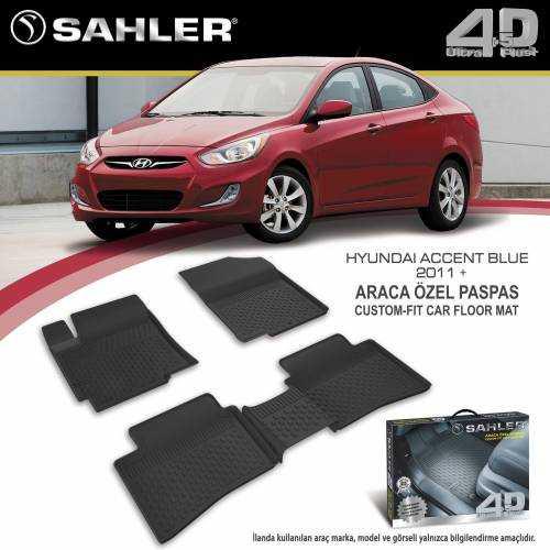 Sahler Hyundai Accent Blue 2011+ 4.5D Araca Özel Paspas