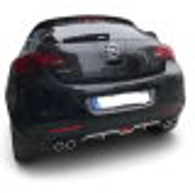 Opel astra j hb difüzör arka tampon eki 4 egzoz çıkışlı