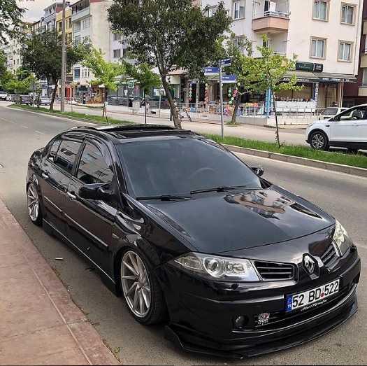 Renault Megane 2 Sedan Cam Rüzgarlıgı 4pcs Piano black
