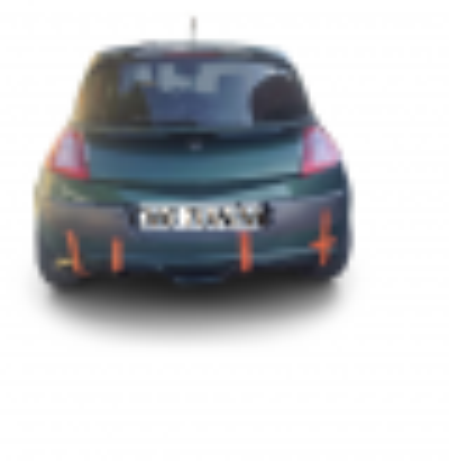 Renault Megane 2 HB Arka Tampon Eki Boyalı (Fiber)