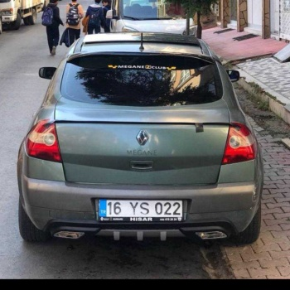 Renault  Megane  2 Sedan  Difizör  Tampon  Eki  Difizör  Egzoz  Görünüm