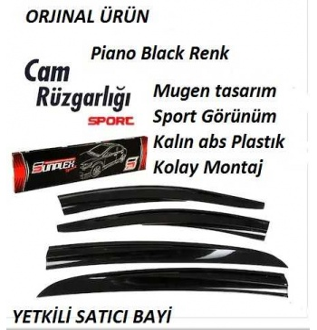 Opel Combo Cam Rüzgarlıgı Sunplex 2li Piano  Black