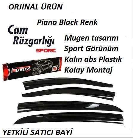 Renault Symbol 2013-2017 Cam Rüzgarlık Sunplex Piano black