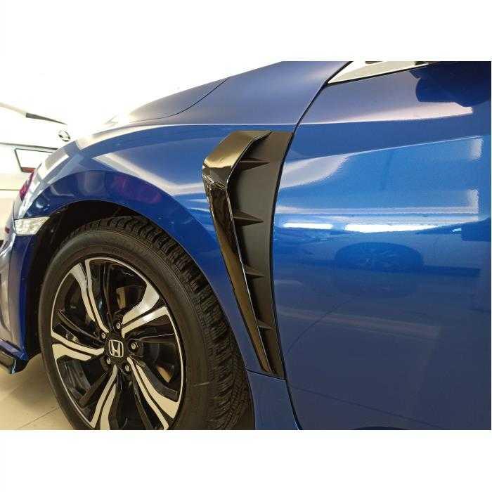 Honda Civic FC5 Çamurluk Venti Büyük (Piano Black)