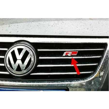 VW Passat Jetta Golf Polo R Line Vidalı Ön Panjur Logo Metal