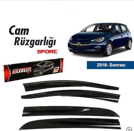 Opel Corsa E 2016- Sonrası Mugen Tip Cam Rüzgarlık Sunplex