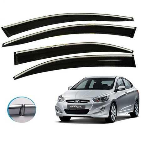 Blue Hyundai Accent Blue Kromlu Cam Rüzgarlıgı İTHAL