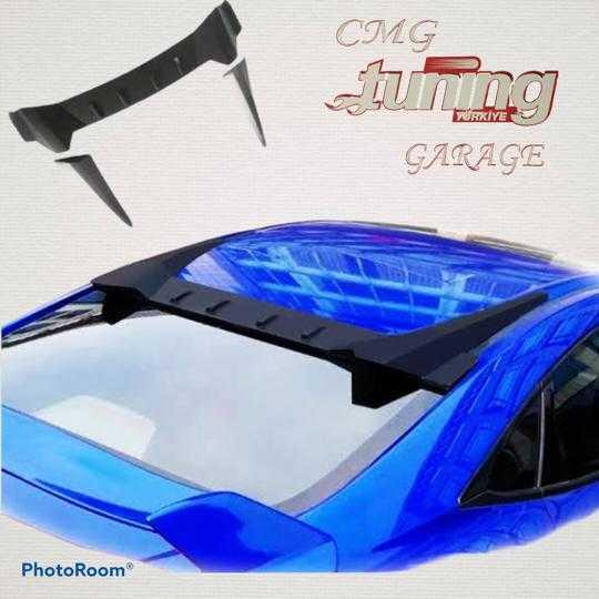 Honda Civic FB7 Uzay Cam Üstü Spoyler Piano Black Typer Spoiler