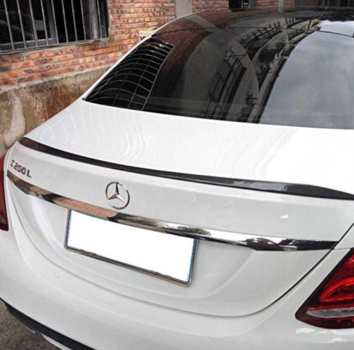 Mercedes W205 C63 Spoiler İnce Model, ABS Plastik Parlak Siyah