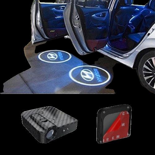 Hyundai  Kapı  Altı  Logo Lamba  Pilli  Sensörlü  Kolay  Montaj