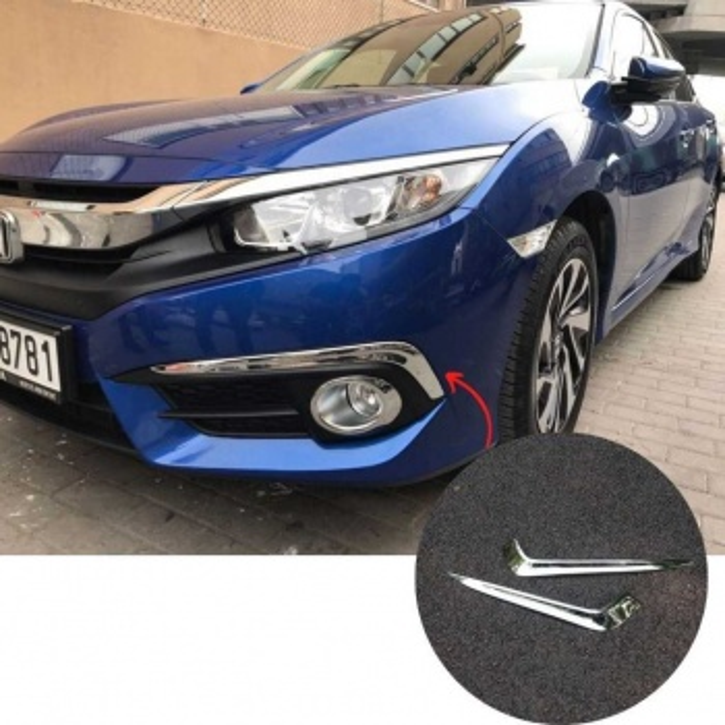 Honda Civic FC5 Krom sis Kaplaması (İTHAL) Sis Çerçevesi 2019+