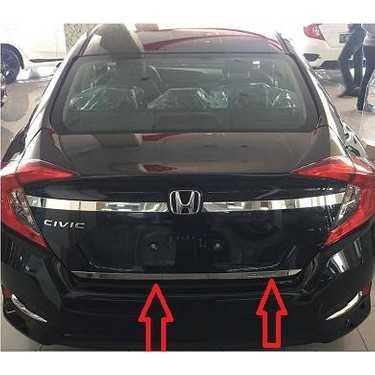 Honda Civic FC5 Krom Bagaj Çıtası 2 Prça 2016+ İTHAL