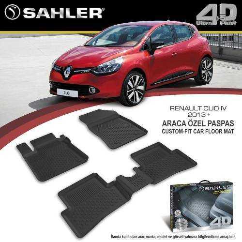 Renault Clio 4 2012-2019 Arası Sahler Paspas 4,5D Havuzlu ARACA ÖZEL