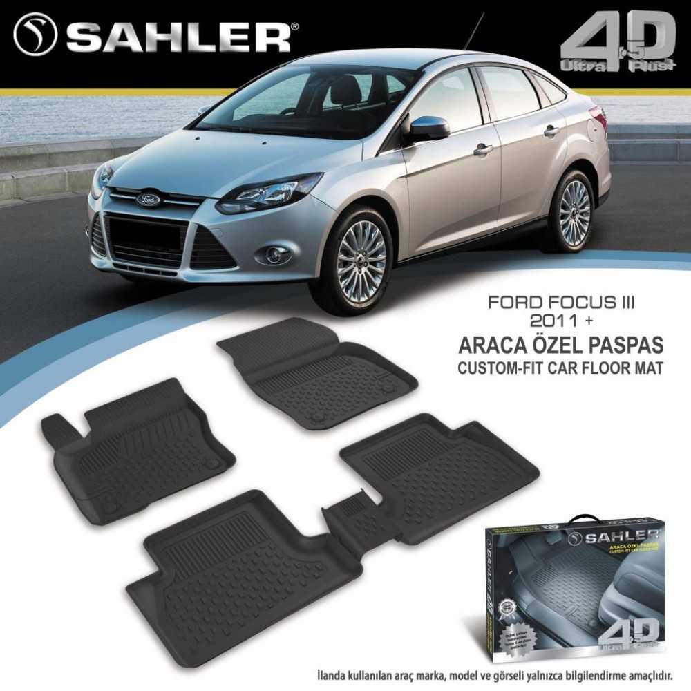 Sahler Ford Focus 3 2010-2018 4.5D Araca Özel Paspas