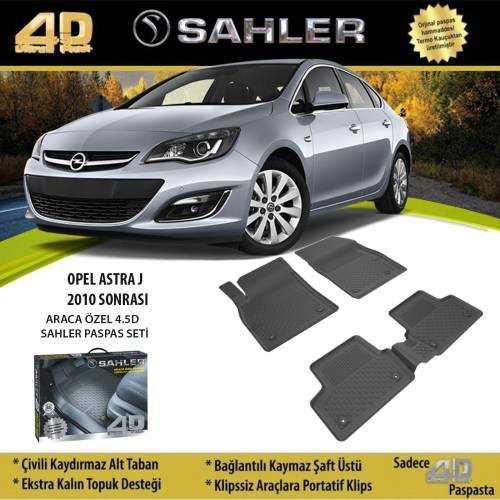 Opel Astra J Sedan 2012-2019 Sahler 4.5 D Araca Özel Paspas