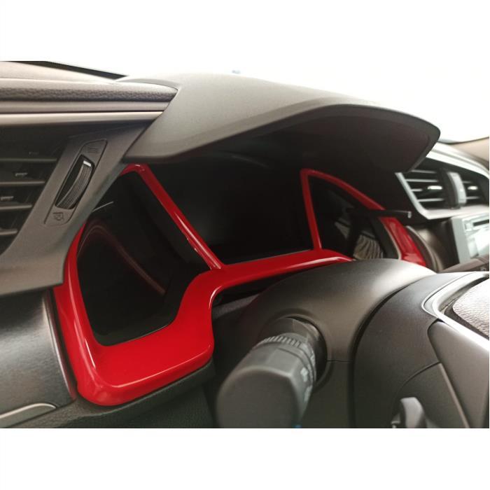 Honda Civic FC5 Gösterge Panel Kaplaması (KIRMIZI)