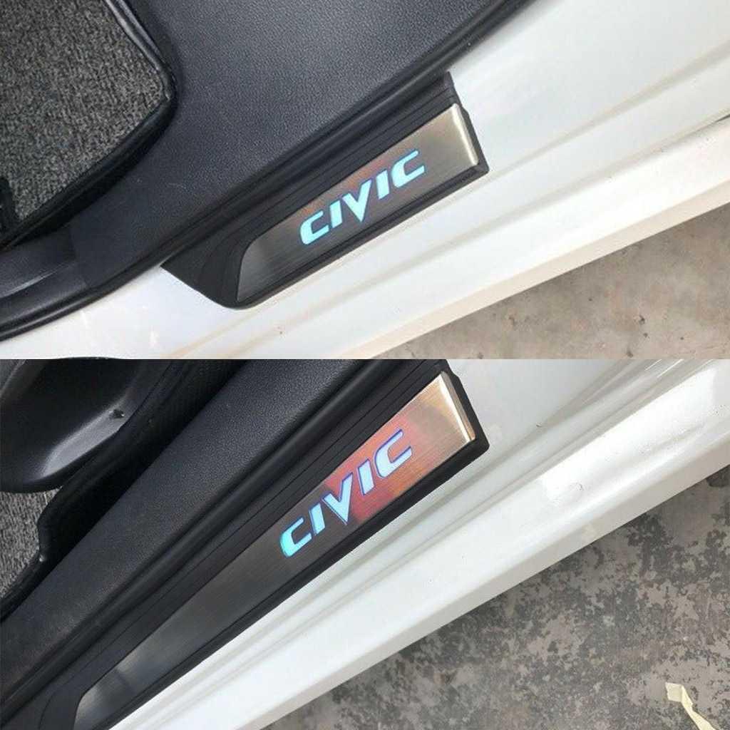Honda Civic FC5-FB7 (BEYAZ) Işıklı Kapı Eşiği 2012-2016