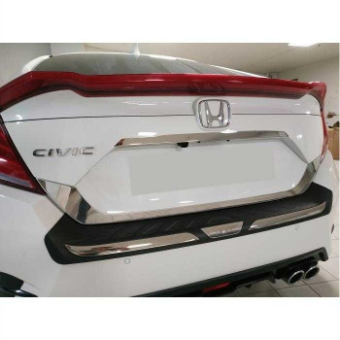 Honda Civic Fc5 Arka Tampon Koruma Plastiği Kaplama 2016-2020