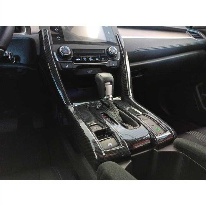 Honda Civic FC5 2016-2020 Komple Vites Konsol Kaplama KARBON