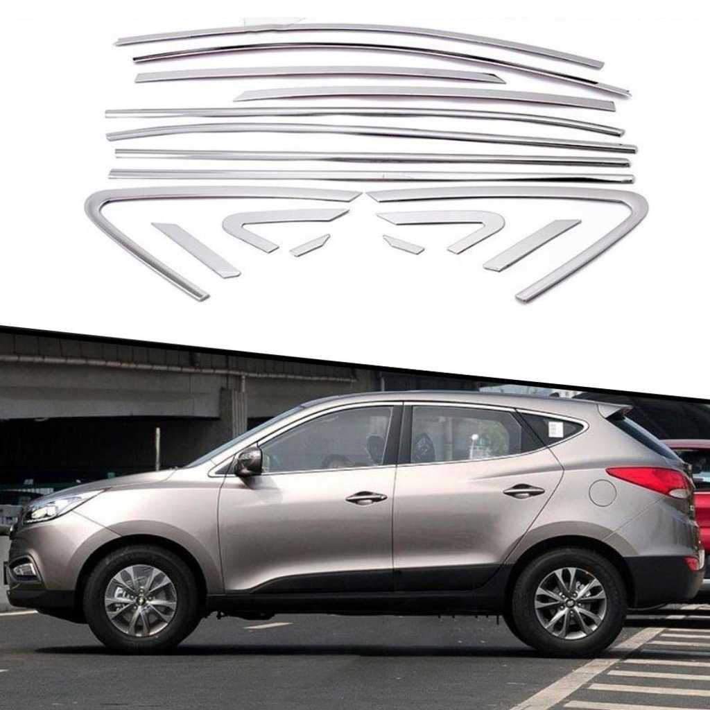 Hyundai Ix35 Cam Çerçevesi Kenar Çıtası Krom Tamtur 16 Parça İTHAL
