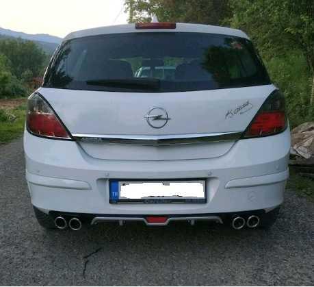 Opel Astra H Difüzör Üniversal Plastik 4 Çıkış egzoz Görünümlü GRİ RENK İthal