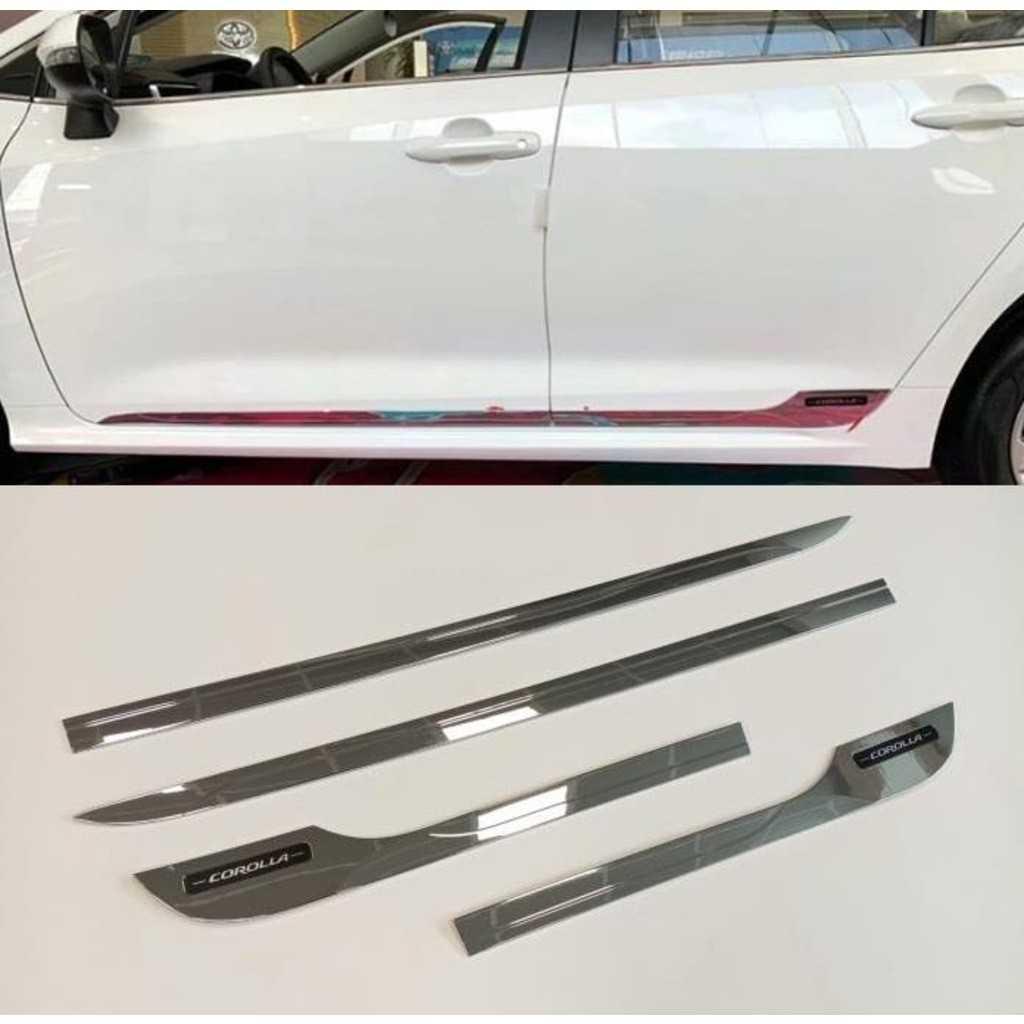 Toyota Corolla 2019-2020 Krom Kapı Çıtası Krom Cam Çıtası İTHAL