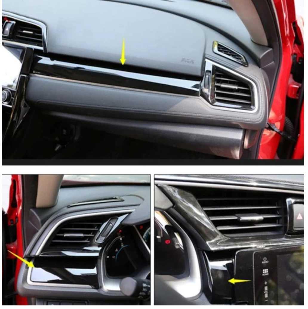 Honda Civic Fc5 – Fk7 Gögüs Kaplama Piano Black