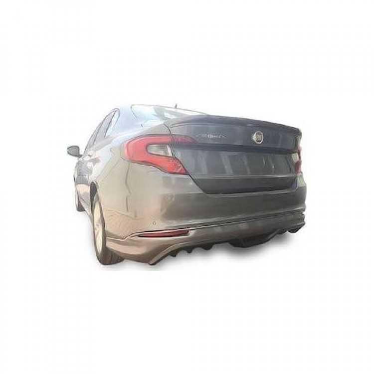 Fiat Egea Sedan Arka Difüzör Tampon Eki Karlık (Fiber-Boyalı)
