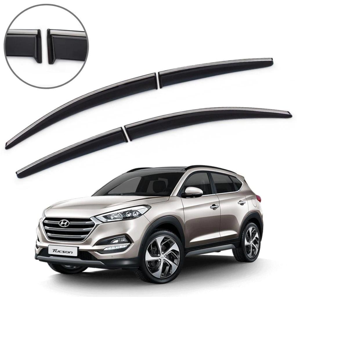 Hyundai Tucson Cam Rüzgarlığı Kromlu 2016-2017-2018-2019-2020 İTHAL