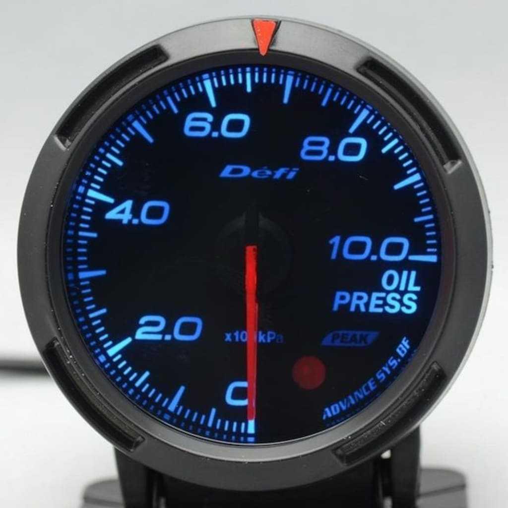 Defi Yağ Basınç Göstergesi Saati Oil Pressure