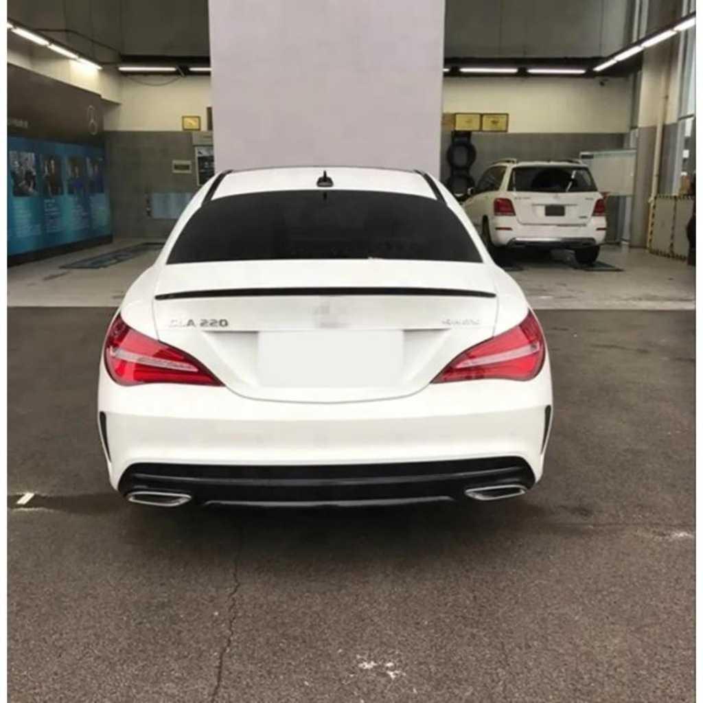 Mercedes W117 Cla Bagaj Üstü Spoiler w117 Piano Black boyalı İTHAL
